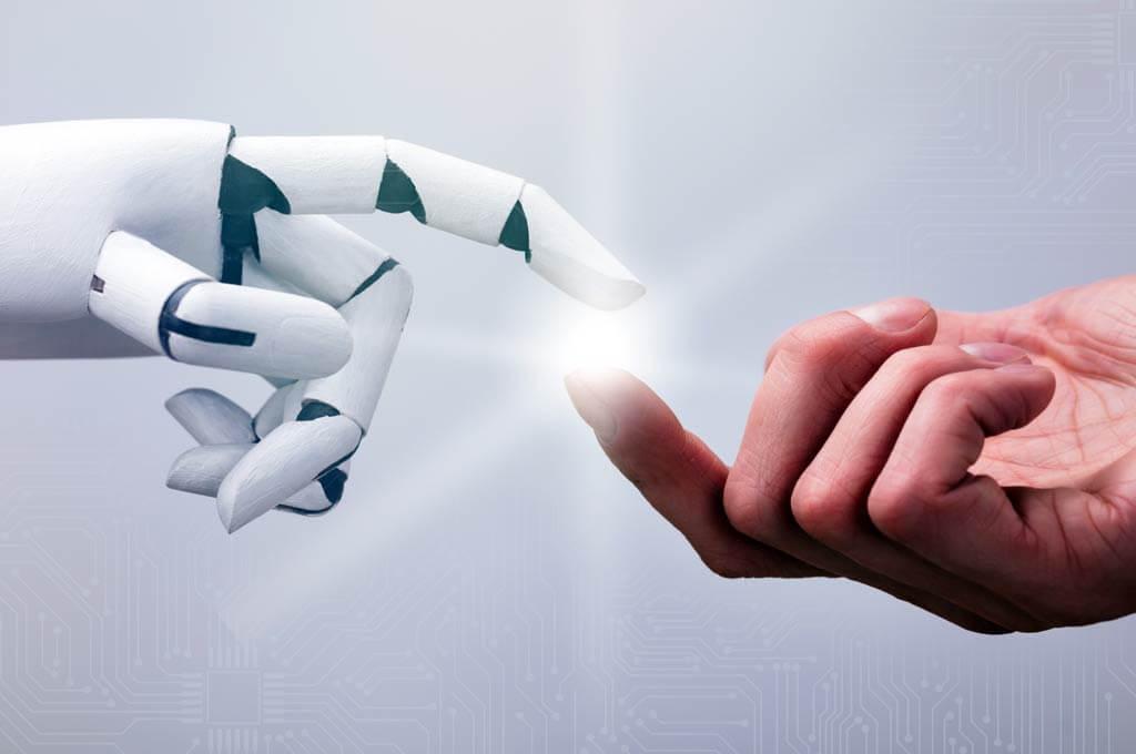 cyborg finger connecting human finger